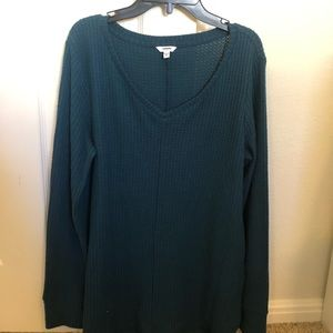 Sonoma Sweaters - Waffle knit teal sweater